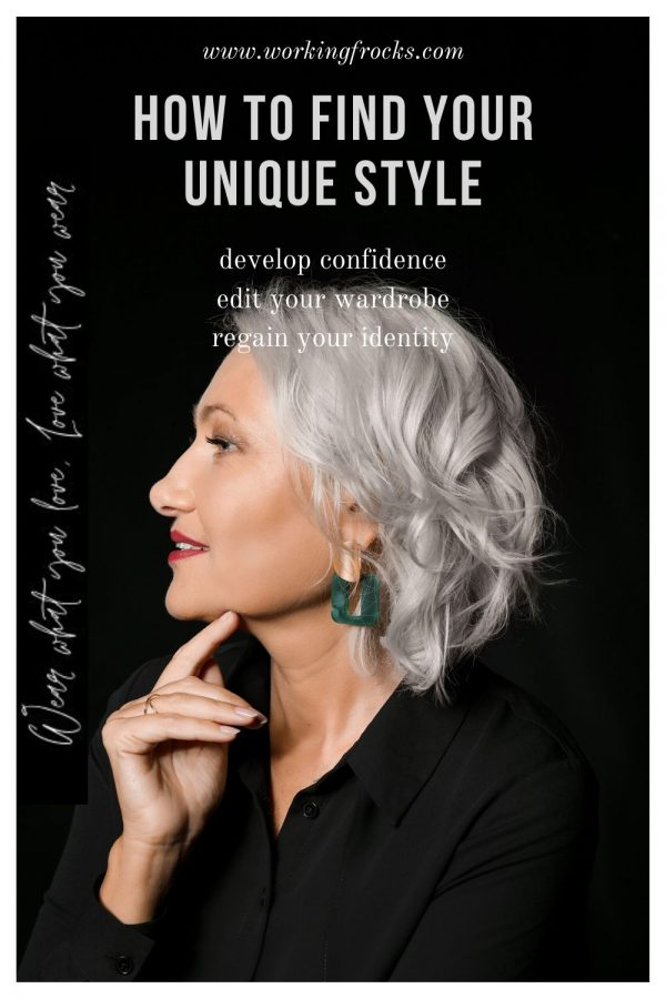 How to find your unique style, smiling woman face