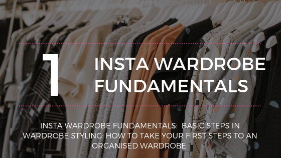 Image showing clothes on a rail promoting part 1 of the Insta Wardrobe Fundamentals course - your first steps to an organised wardrobe