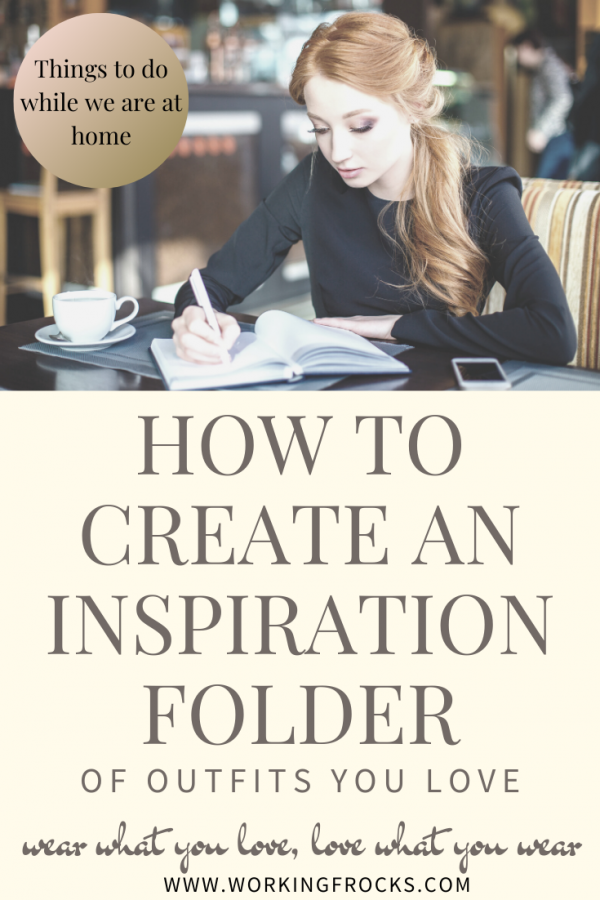 woman writing in her inspiration folder