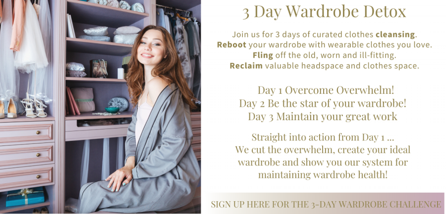 Sign up form for 3-day wardrobe detox. Your unique style blog post