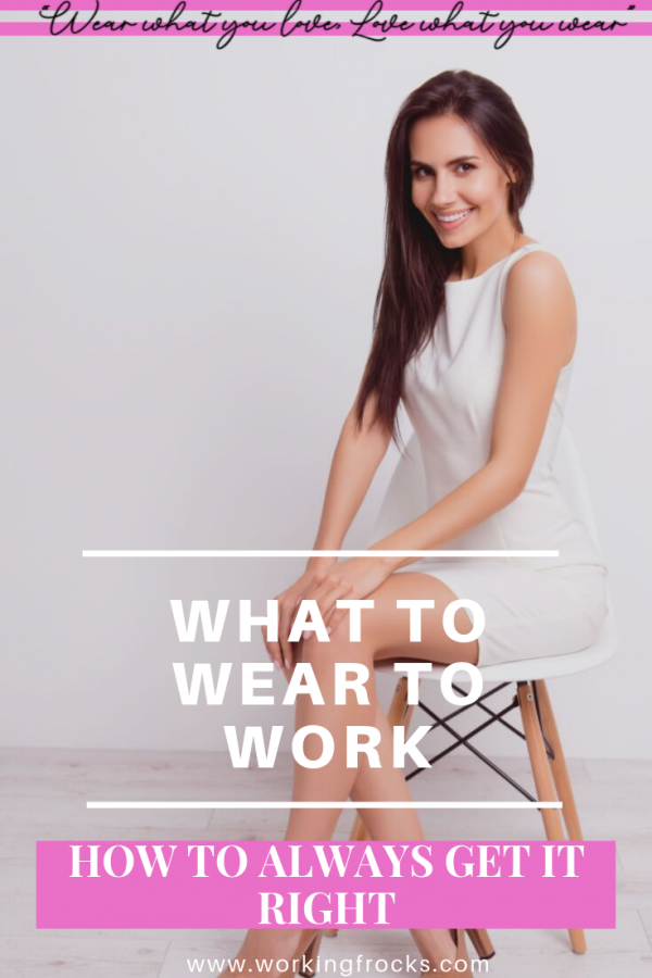 woman looking good who knows what to wear for work