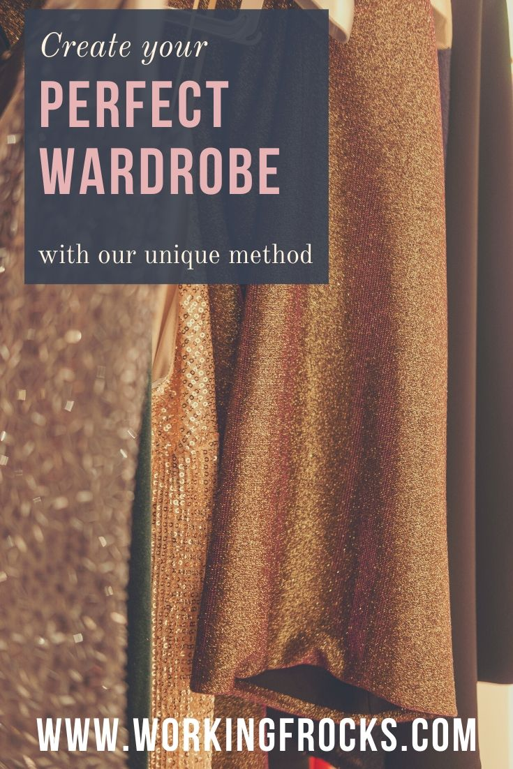 Create your perfect wardrobe, image of Beautiful clothes hanging in a wardrobe