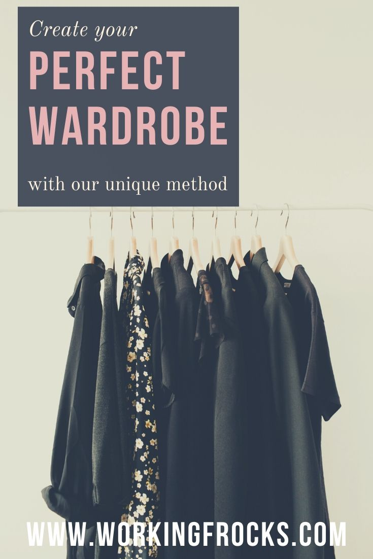 Create your perfect wardrobe: image of black clothes hanging on a rail
