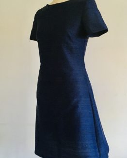 Navy shift dress for curvy women
