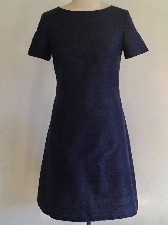 Front Navy shift dress for curvy women