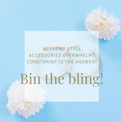 earrings and flowers - bin the bling!