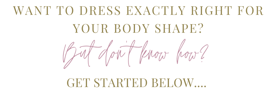 Header text box for the dress for your body shape page