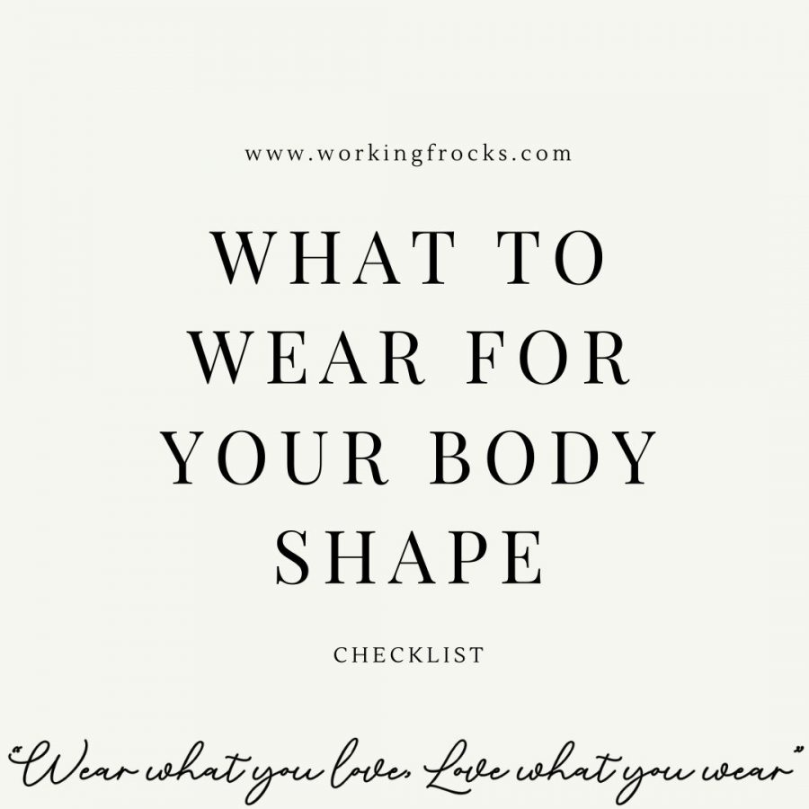 "Box to click to download ""what to wear for our body shape"" checklist. Box has light cream background, text in the middle and strapline, ""Wear what you love, love what you wear"" at the bottom"
