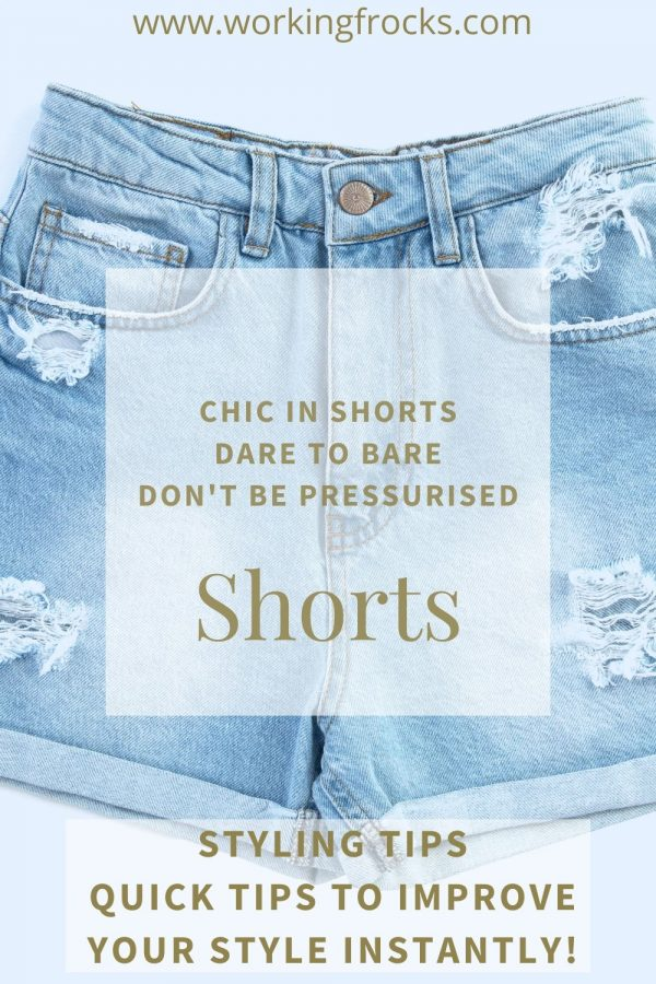 blue denim very short frayed shorts