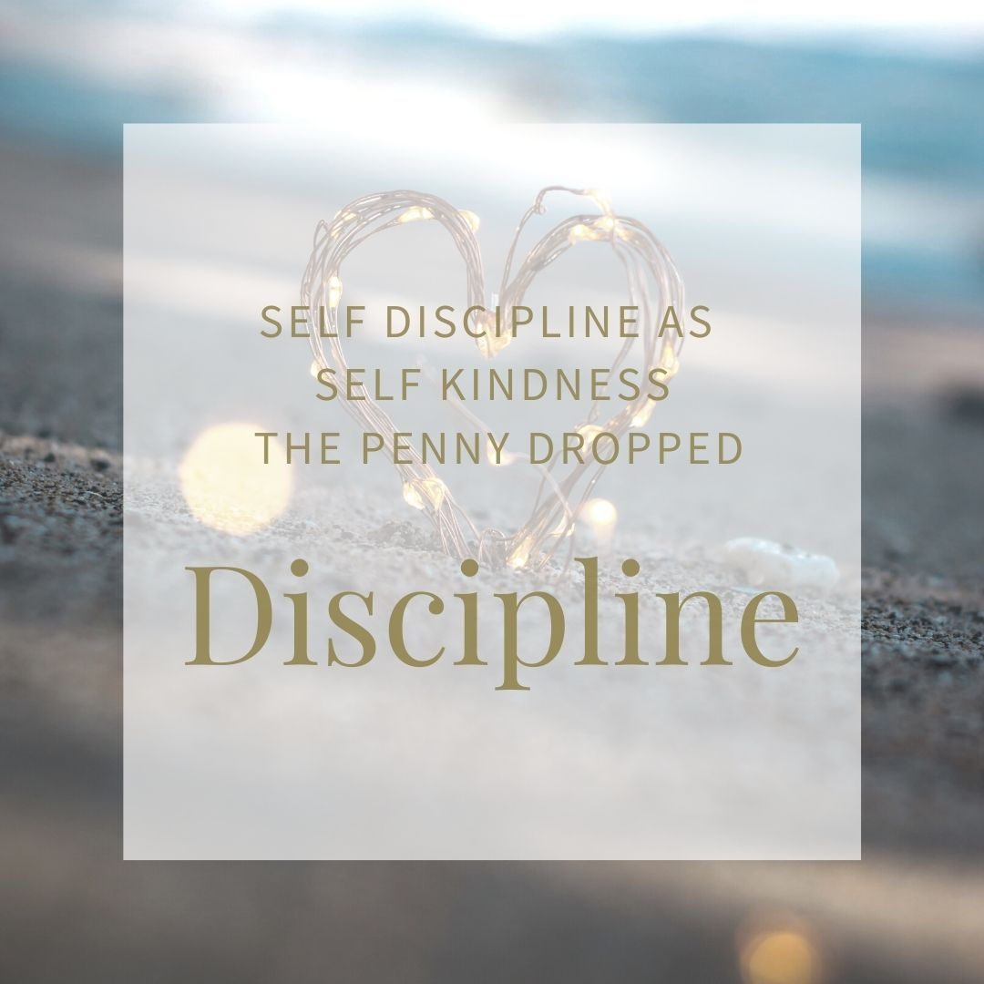 picture of a metal heart on a beach. Accompanies the blog post entitled Discipline, about why self kindness is actually self discipline