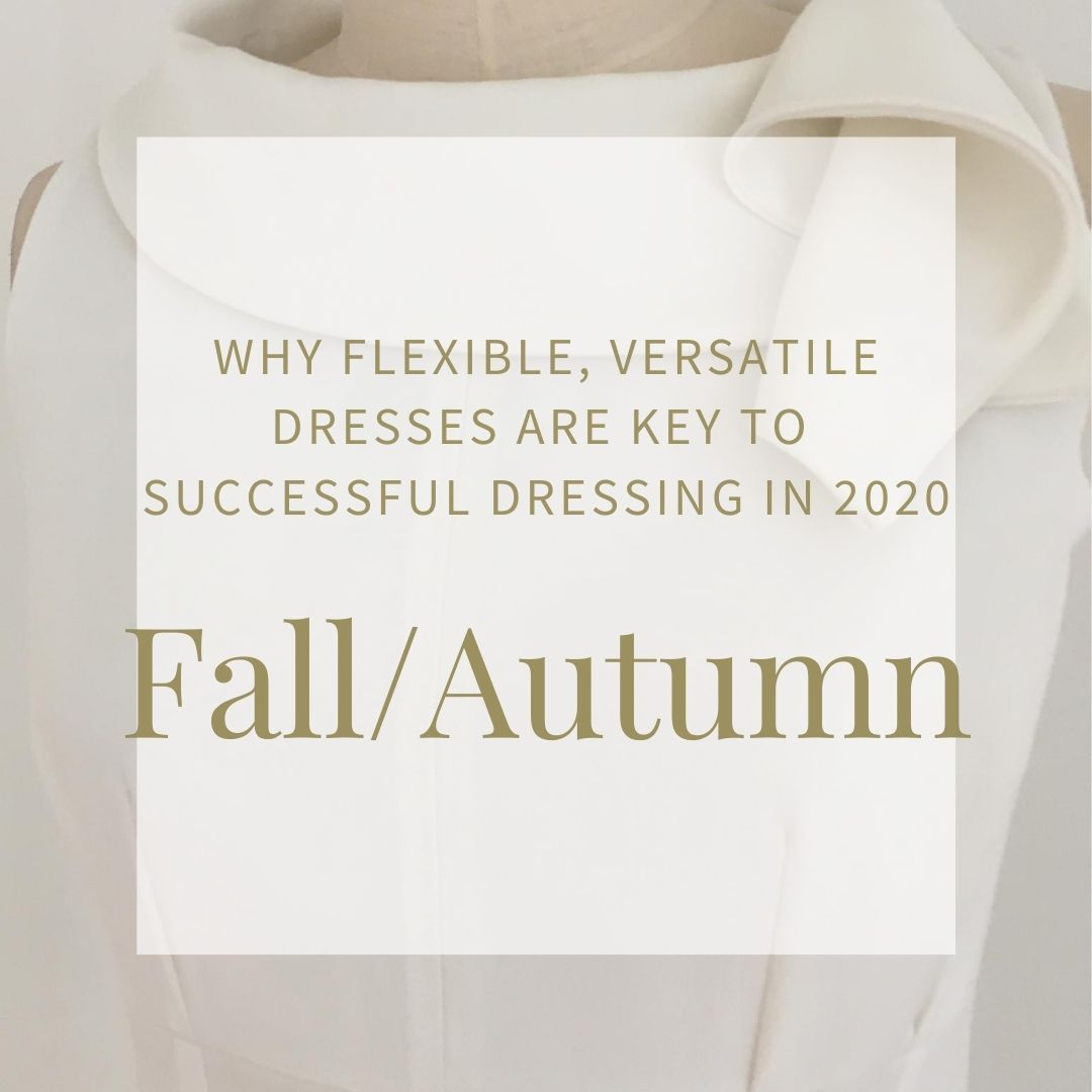 Black White Grey - Early Fall/Autumn Dresses for your working day - Adventure - Close up - White sleeveless dress with draped collar. Autumn Winter 2020. Part lined.