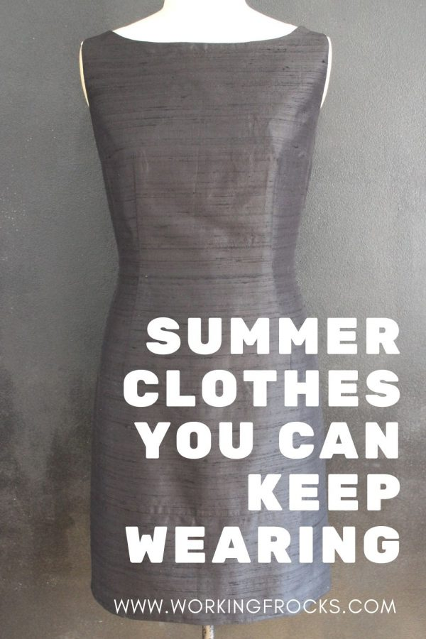 Summer clothes you can wear in the fall/autumn, black silk dress image, sleeveless, fitted