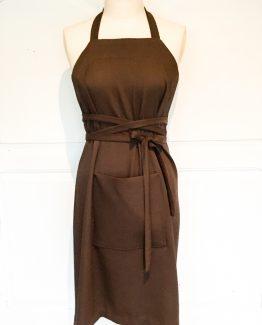 Pleydell brown work apron dress Working Frocks