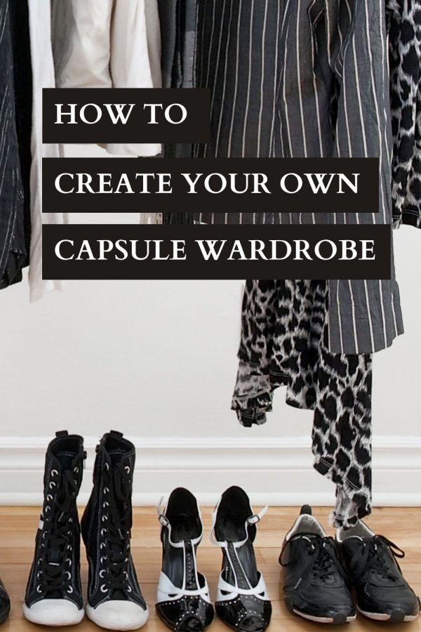 Capsule Wardrobe Collection - image of a tidy wardrobe and a velvet stool Working Frocks