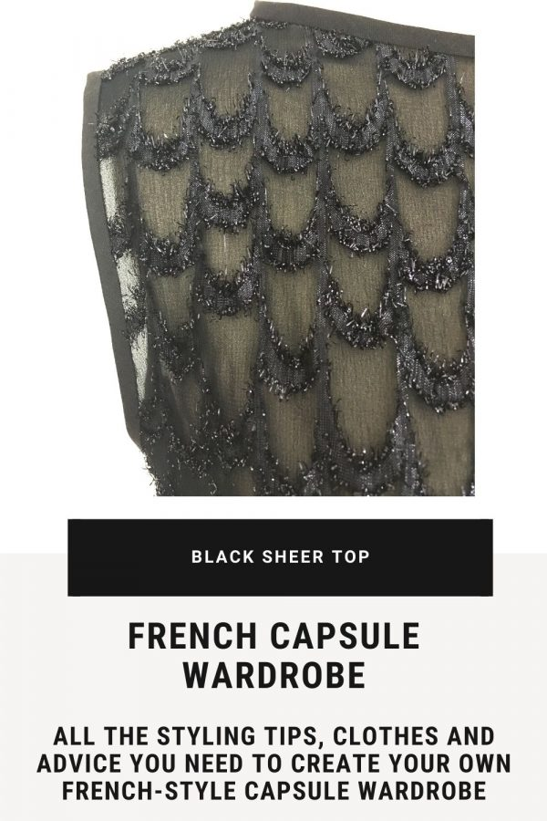 Black sheer top - French capsule wardrobe