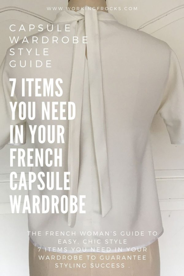 Back view of the Simple White Top - part of the French Capsule Wardrobe Collection