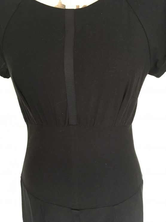 snapshot of the bodice of the black relaxed dress Working Frocks