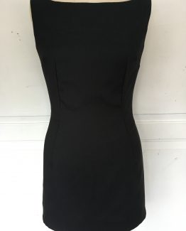 Black mini shift dress - French capsule wardrobe - front view
