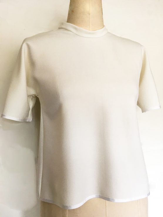 Simple white top - French Capsule Collection