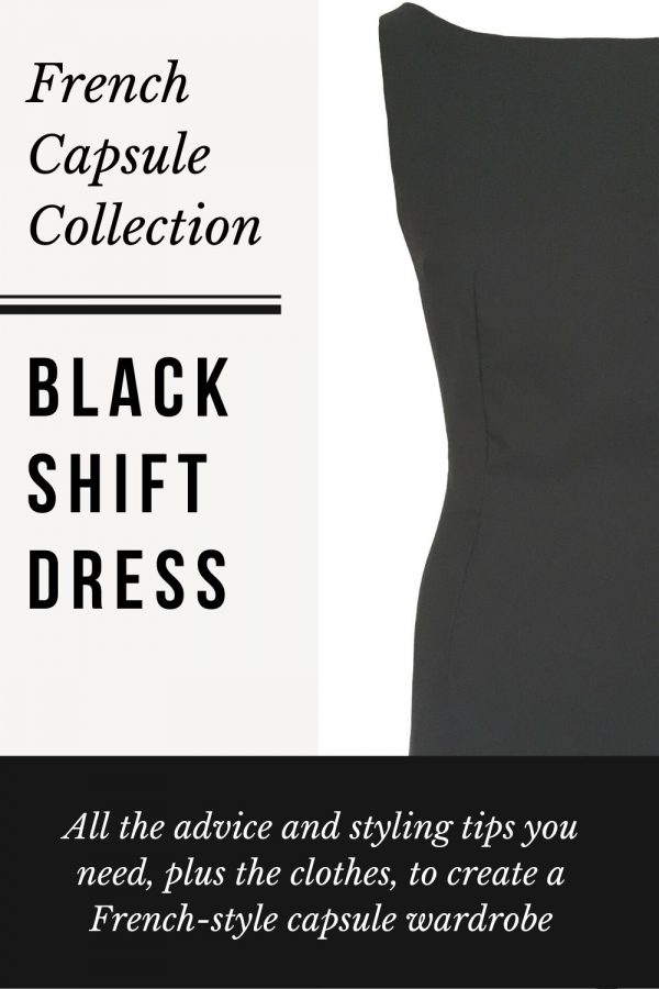 Black mini shift dress image - Working Frocks