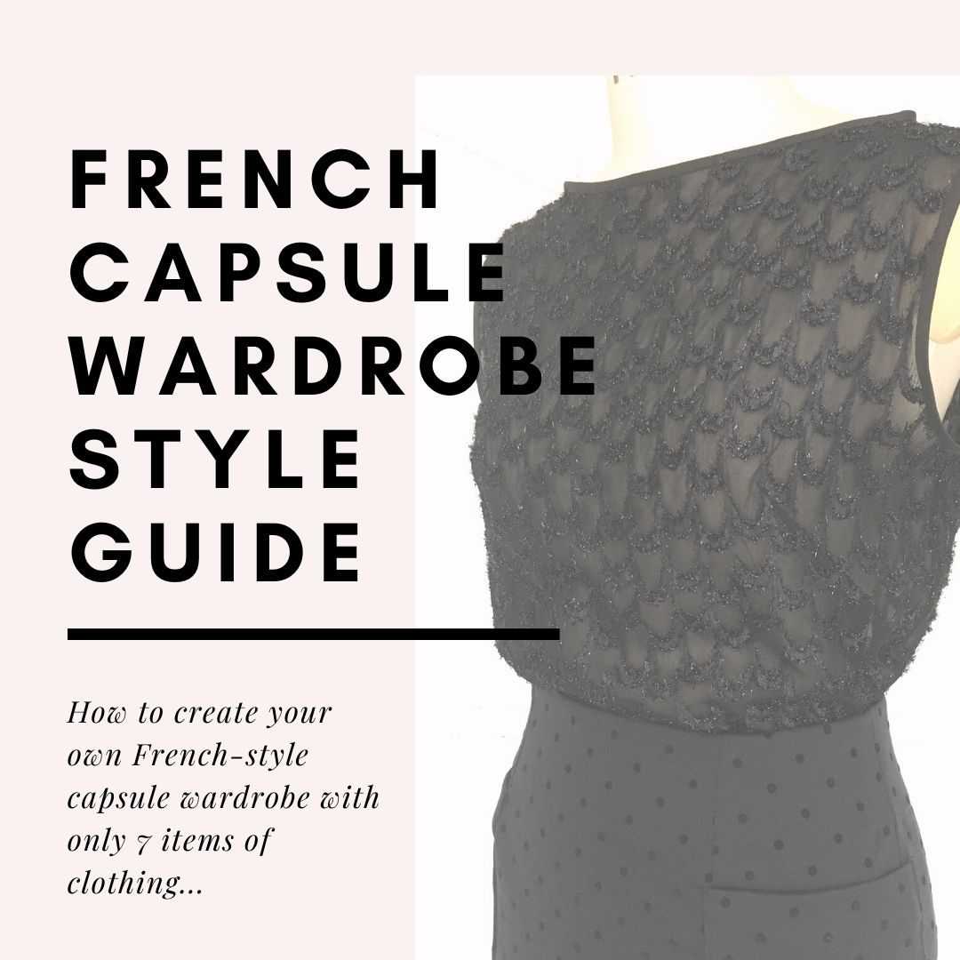 image of a dressmakers mannequin at a 45 degree angle to the photography. The mannedquin ins wearing a black sleeveless chiffont top and a black spotty pencile skirt